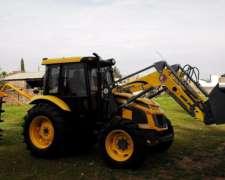 Tractor Pauny 180 con Pala OM y Hoyadora.