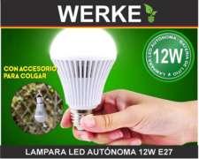 Lampara LED Autónoma 12w 6400k