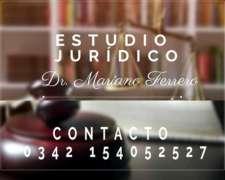 Estudio Jurídico: DR. Mariano Ferrero.