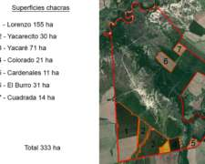 Arrendamiento Campo Mixto 1714 Ha en Entre Ríos
