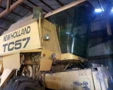 Cosechadora New Holland Tc-57, 19 Pies, Recolector y Maicero
