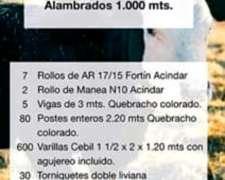 Promoción Materiales 1000 Mts Alambrado