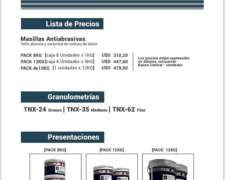 Masillas Antiabrasivas 100% Alumina y Ceramica de Carburo