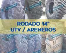 Cubiertas Rodado 14 para Utv, Areneros y Cuatris