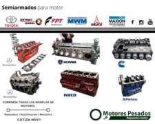 Semiarmado Cummins - Scania - Iveco - Mercedes Benz - Perkin