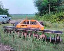 Tractor Zanello 4x4, Rastra Campera STEP51 y Rolo 3mts