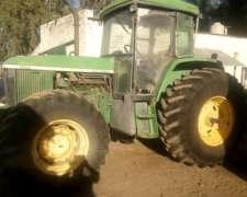 Tractor John Deere 7505, año 2004
