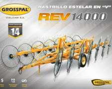 Rastrillo Grosspal REV 14000 Estelar en V