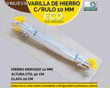 Varilla De Hierro C/rulo 10 Mm Eco