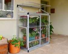 Invernadero Palram Lean TO - Aluminio y Policarbonato