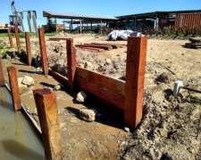 Durmientes Quebracho Zona Sur Tablaestacas 200x23x12 Cm