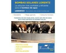 Bombas Solares Lorentz. Marca Alemana.
