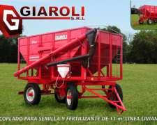 Acoplado para Semilla y Fertilizante Giaroli