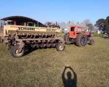 Equipo Sembradora Schiarre De 9 A52 Y Tractor Fiat 1100