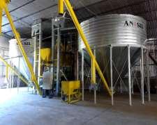 Planta de Silos Nueva con Fabrica de Alimentos y Extrusora