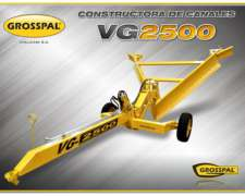 Zanjadora o Constructora de Canales Grosspal GV2500
