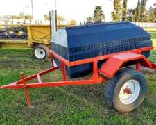 Acoplado Tanque 1500 L. Agua Plastico - Rotor - Nuevo