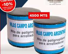 Hilo para Arrolladora de 4500 Mts, Campo Argentino.