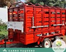 Acoplado Vaquero Jaula Carro Desmontable 3 4 5 Animales