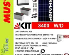 Paneles Solares, Kit de Energía 8400 W/D (u$s 2000)