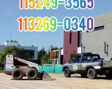 Minipalas Bobcat Zanjadora Pilotines y Pilotes