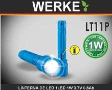 Linterna Recargable USB 1w.