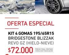 Kit 4 Gomas 195/65r15 Bridgestone Blizzak