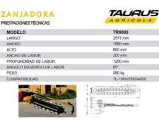 Zanjadora Canaletera Surcos Manipulador Taurus Pala Trencher