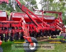 Sembradora Crucianelli Pionera con Fertilización en Linea