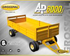 Acoplado Playo con Barandas AP6000 Grosspal
