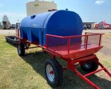 Acoplado Tanque Plastico de Apoyo 3500lts Rotor