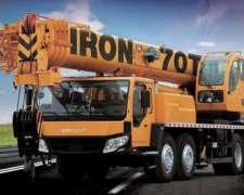 Grua Iron Xcmg Qy 70tn Usada Año 2013 Financiada
