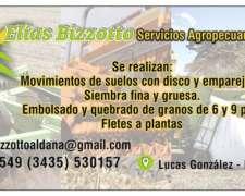 Trabajos de Servicios Agropecuarios.