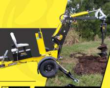 Pala Mecánica Mini Retroexcavadora Transportable -MRE02
