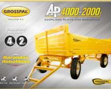 Acoplado Grosspal Playo con Barandas AP4000-2000