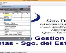 Gestion Emision E Impresion Guias De Renta De Sgo.del Estero
