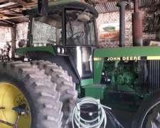 Tractor John Deere, Modelo 4455, Doble Tracción.