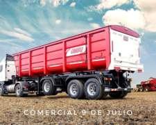 Semirremolque de Vuelco para Camión Trasero Tipo Batea 40m3