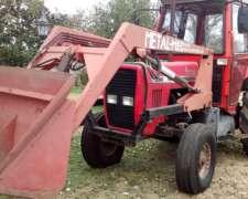 Tractor Massey Ferguson 292 con Pala y Púas para Rollos
