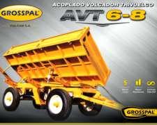 Acoplado Grosspal Volcador Trivuelco AVT 6-8