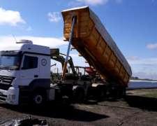 Camion M. B. Axor 2035, Batea Salto 2008 Impecable