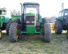 Tractor John Deere 7800, 200hp,tracción Doble, C/DUALES,1995