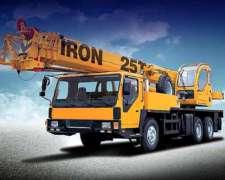 Grúa Sobre Camión Iron Xcmg QY 25 TN - 2017 Unica