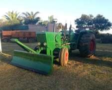Tractor Deutz 144 Con Hoja De Topadora Frontal