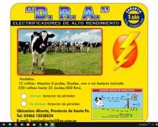 Electrificador-boyero D.r.a , 12v, 8 Joules/200km.