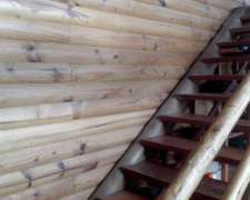 Machimbre Simil Tronco O Cabañero Para Interior / Exterior