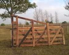 Tranqueras y Puertas de Madera para Corrales
