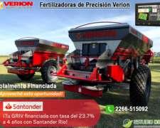 Fertilizadora de Precisión Verión. Promoción U$d17820+iva