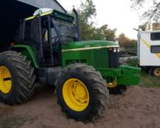 Tractor John Deere 7505 año 2003, 11500hs, Doble Traccion