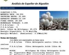 Expeller de Algodón - Lasna Insumos - MIN 28 TN